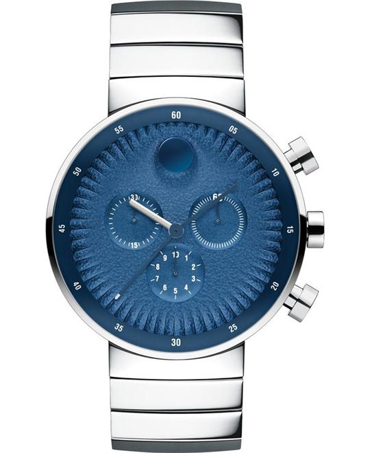 Movado Edge Chronograph Stainless Steel Watch 42mm
