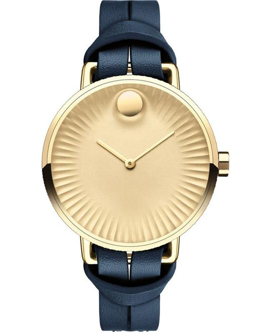 dong ho Movado Edge Gold Ladies Watch 34mm