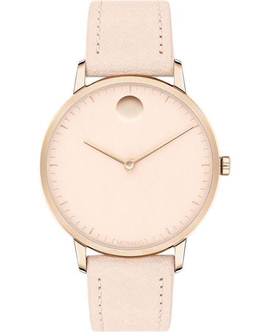 đồng hồ nữ Movado Face Carnation Gold Ion-Plated Watch 35mm