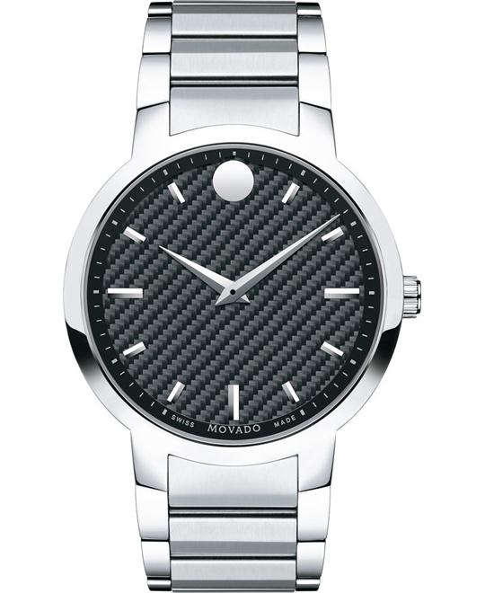 MOVADO Gravity Black Carbon Fiber Watch 42mm
