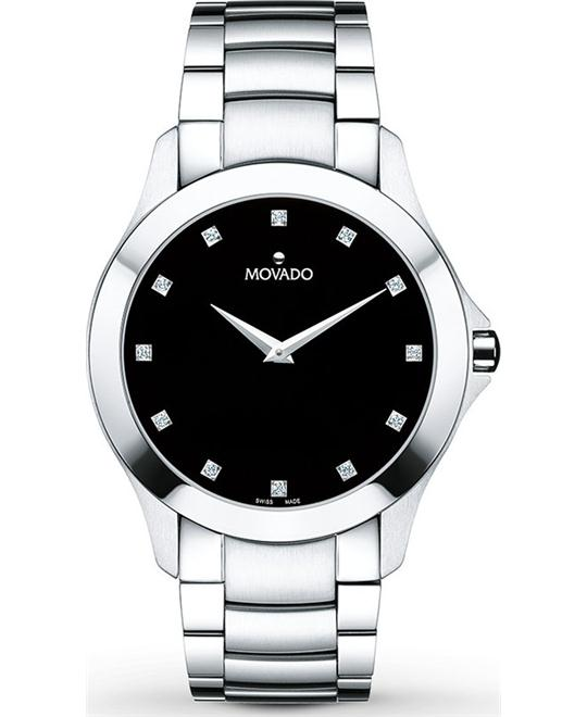 MOVADO Masino Black Dial Men's Watch 40mm