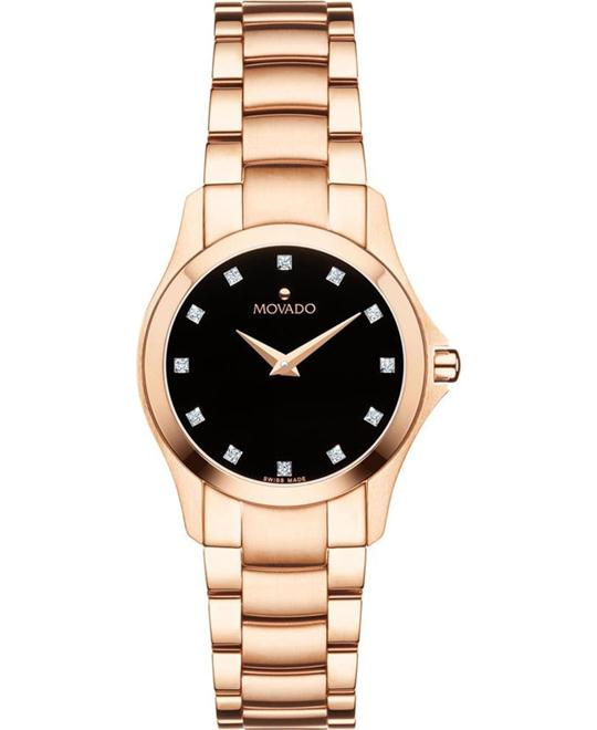 đồng hồ nữ Movado Masino Rose Gold Women's Watch 26 mm