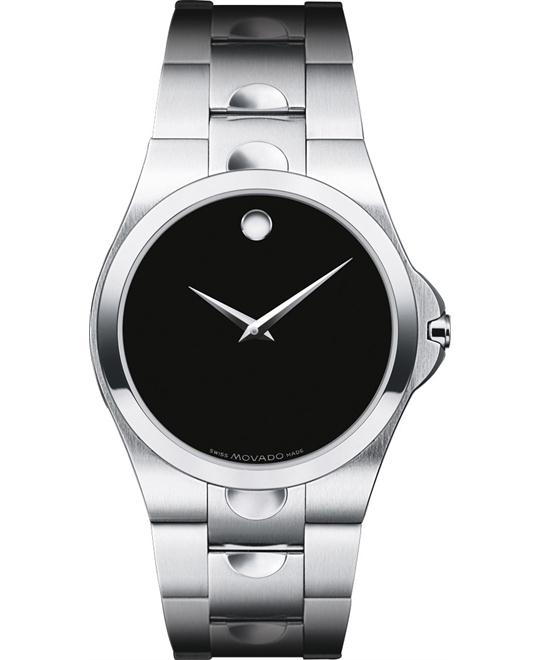 MOVADO Men's Luno Black Dial Watch 38mm