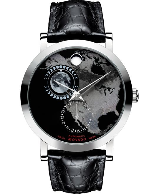 Movado Planisphere Alligator Men's Watch 42mm