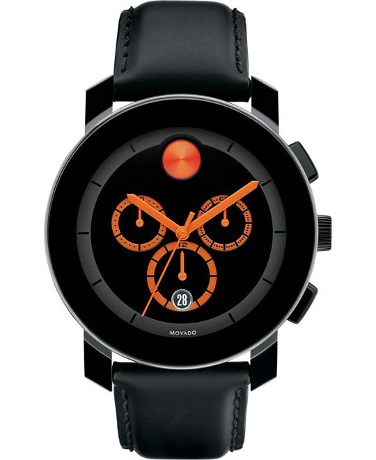 Movado Swiss Chronograph Bold Coated Watch 44mm