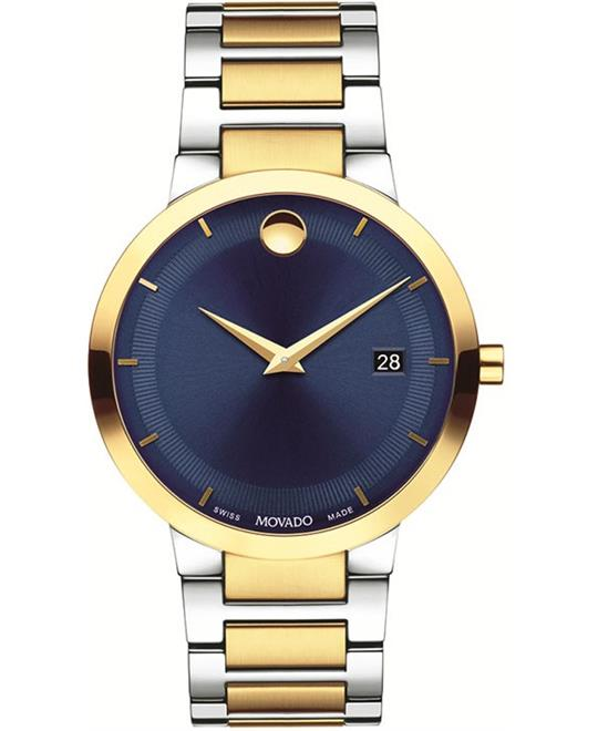 đồng hồ nam Movado Modern Classic Blue Watch 39mm