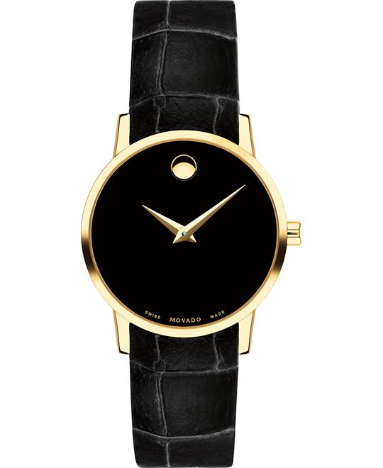 đồng hồ Movado Museum Black Women's Watch 28mm