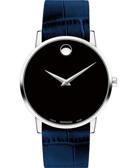 đồng hồ Movado Museum Blue Men's Watch 40mm