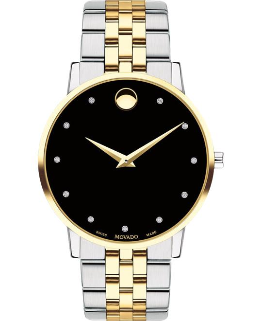 Movado Museum Classic Diamond Watch 40mm