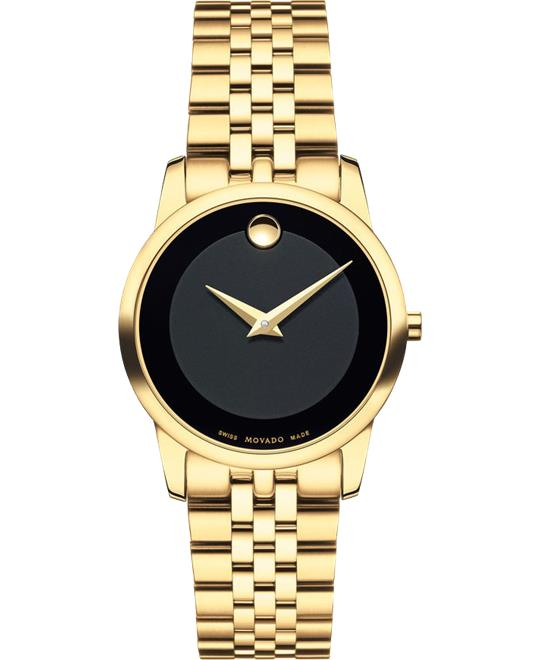 Movado Museum Classic Gold PVD Watch 28mm