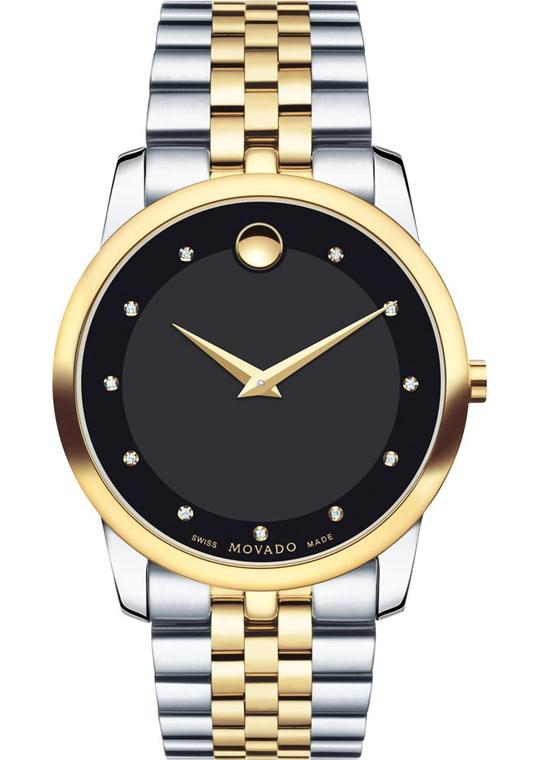 Movado Museum Diamond Black Watch 40mm