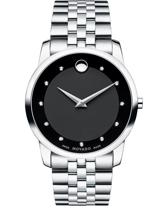 Movado Museum Diamond Watch 40mm