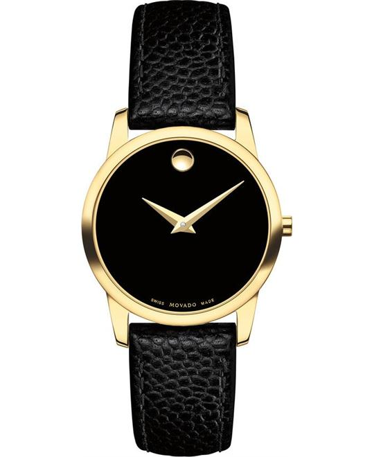 đồng hồ MOVADO MUSEUM GOLD PLATED CASE WATCH 28MM