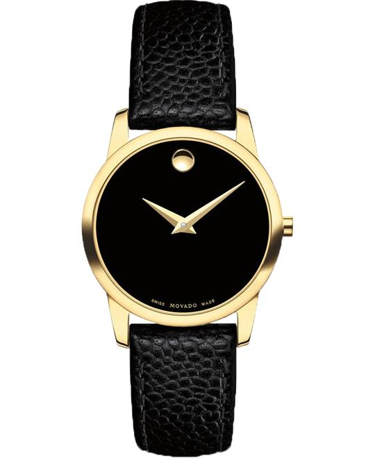 Movado Museum Gold Plated Watch 28mm