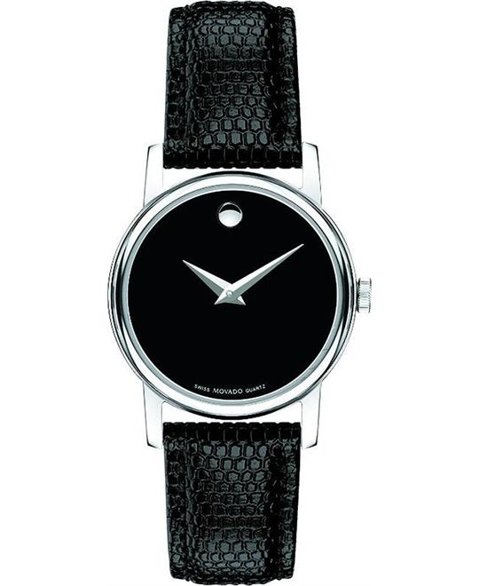 Movado Museum Leather Strap Ladies Watch 26mm