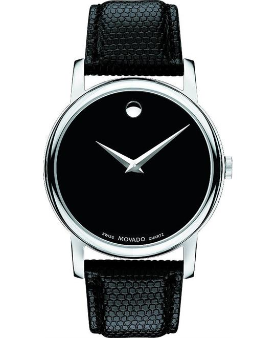 Movado Museum Leather Strap Mens Watch 38mm
