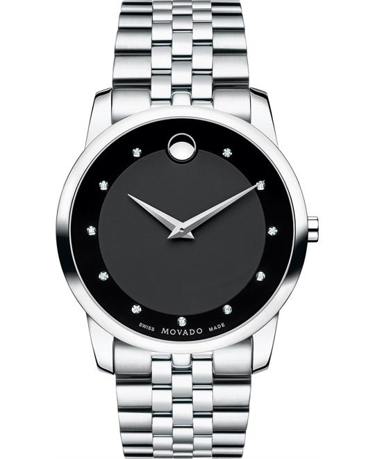 đồng hồ MOVADO Museum Diamond Men's Watch 40mm