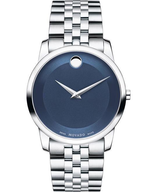 MOVADO Museum Metallic Blue Men's Watch 40mm