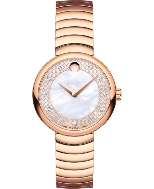 dong ho Movado Myla Mother Of Pearl Dial Watch 28.5mm