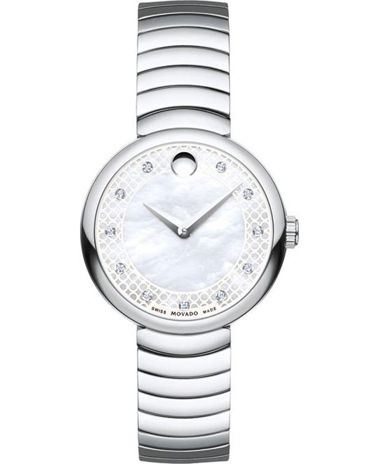 MOVADO Myla White Mother Of Pearl Watch 28.5mm