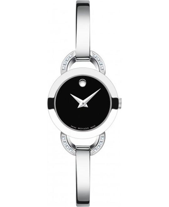 MOVADO Rondiro Swiss Quartz Silver Watch 22mm
