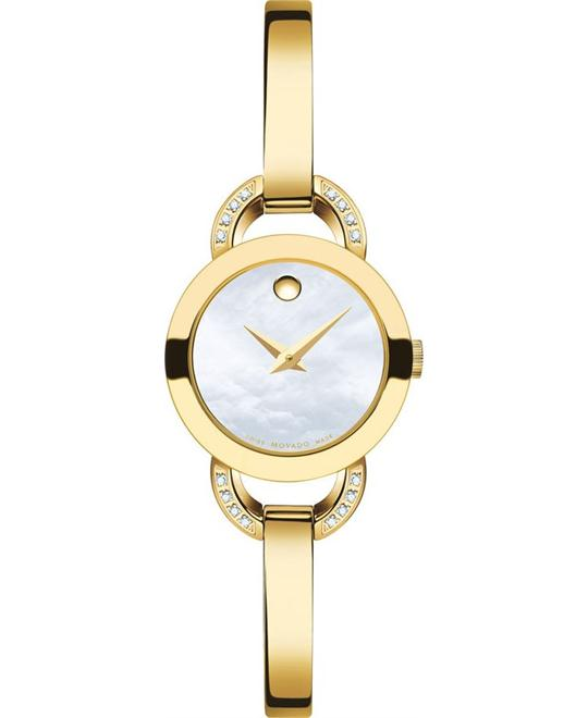 MOVADO Rondiro Yellow Gold PVD Ladies Watch 22mm