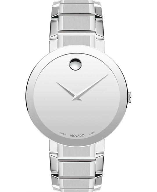 Movado Sapphire Men's Stainless Steel Watch 39mm