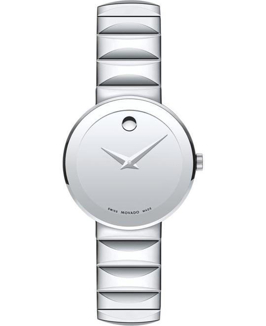 Movado Sapphire Stainless Steel Women's Watch 28mm
