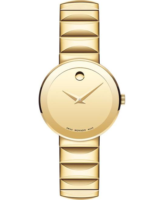 Movado Sapphire Yellow Gold Women's Watch 28mm