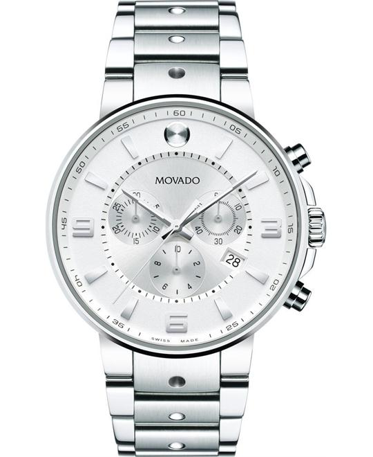 MOVADO SE Pilot Chronograph Watch 42mm