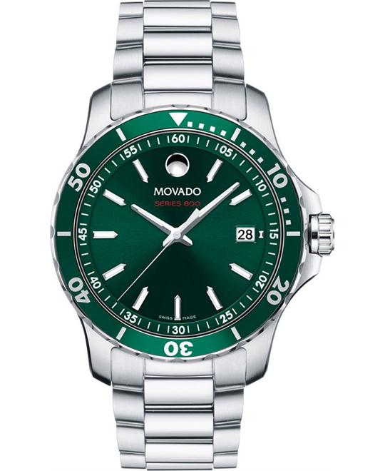 đồng hồ MOVADO Series 800 Green Men's Watch 40mm