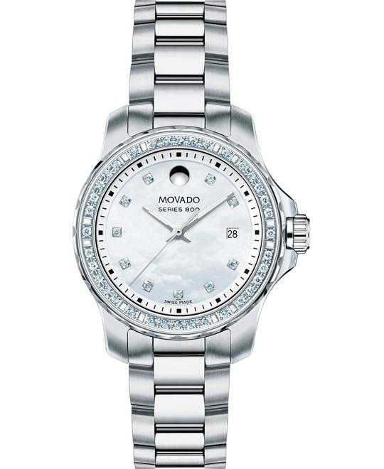 MOVADO Series 800 White Diamond Watch 29mm