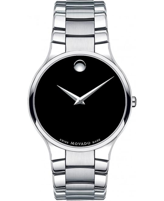 MOVADO Serio Black Dial Men's Watch 38mm