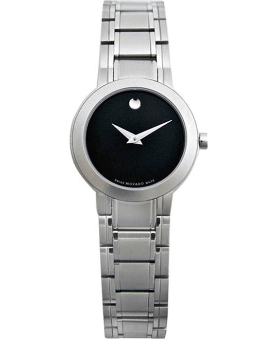 MOVADO Stiri Black Dial Ladies Watch 28MM