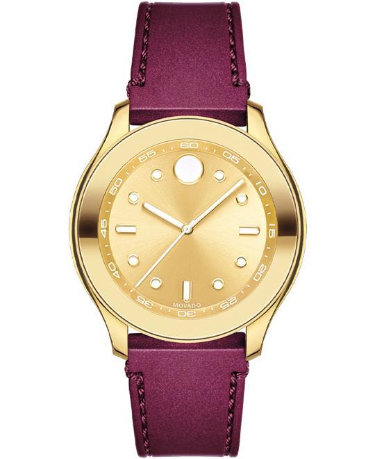 đồng hồ màu đỏ Movado Trend Watch 38mm