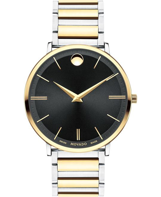 MOVADO Ultra Slim Black Watch 40mm