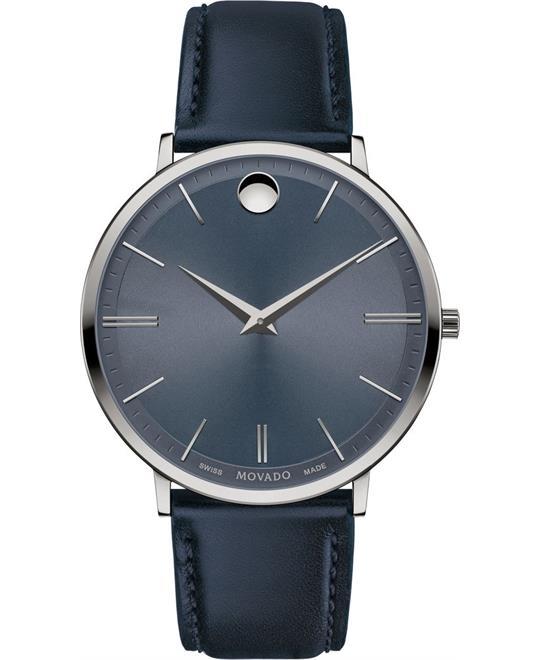 đồng hồ nam Movado Ultra Slim Light Grey Watch 40mm