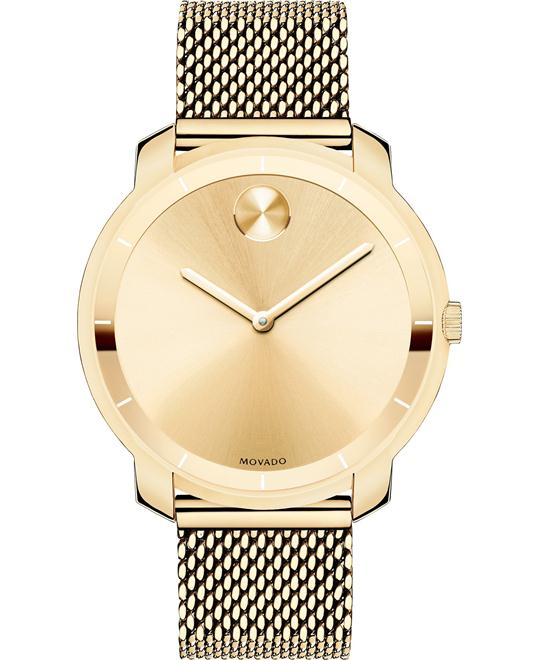 Movado Bold Unisex Swiss Gold Ion Watch 36mm