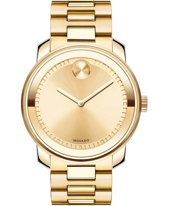 Movado Bold Swiss Gold Ion-Plated Watch 42mm