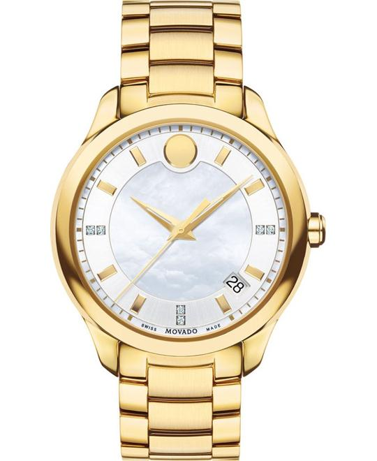 Movado Women's Analog Display Swiss Quartz Gold Watch 36mm
