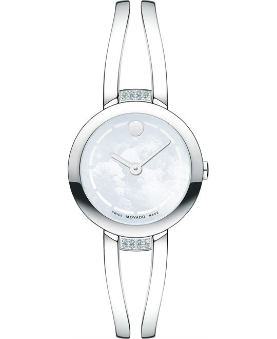 Movado Swiss Amorosa Duo Diamond Watch 25mm