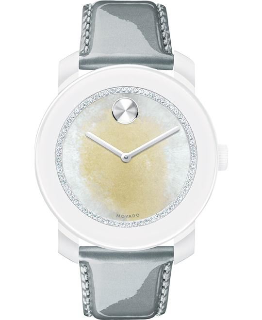 Movado Women's Swiss Bold Gray Pearlized Watch 42mm