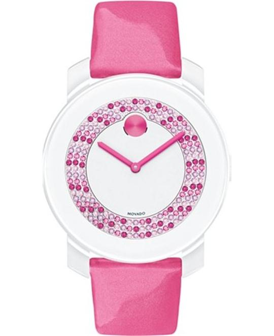 Movado Bold  Swiss Pink Patent Watch 36mm