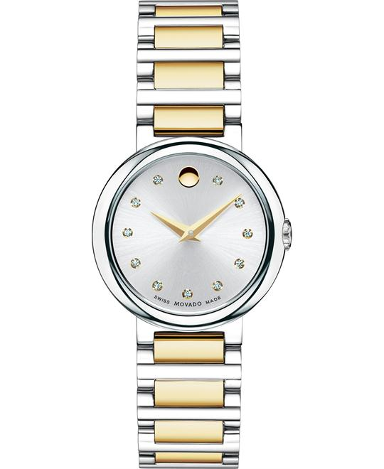 Movado Women's Swiss Concerto Diamond Watch 27mm