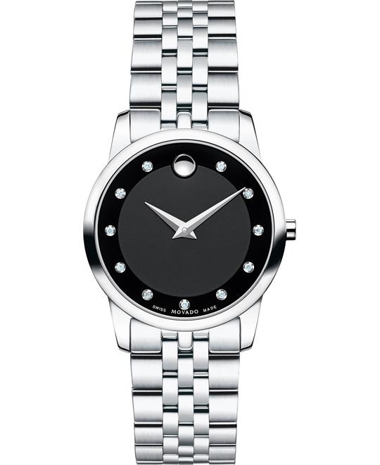 đồng hồ MOVADO Museum Diamond Women's Watch 28mm