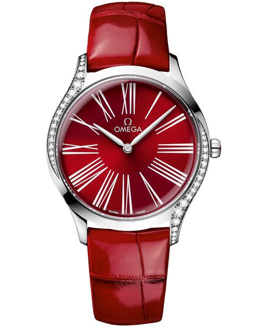 đồng hồ nữ màu đỏ Omega De Ville Trésor 428.18.36.60.11.002 Watch 36 mm