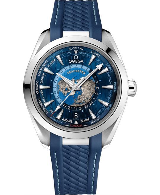 đồng hồ world timer Omega Seamaster 220.12.43.22.03.001 Aqua-Terra Worldtimer 43mm