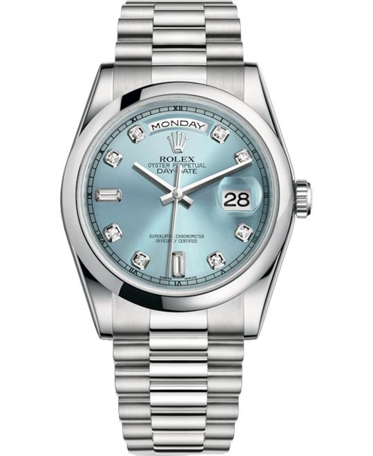 ROLEX OYSTER PERPETUAL 118206-0036 DAY-DATE 36
