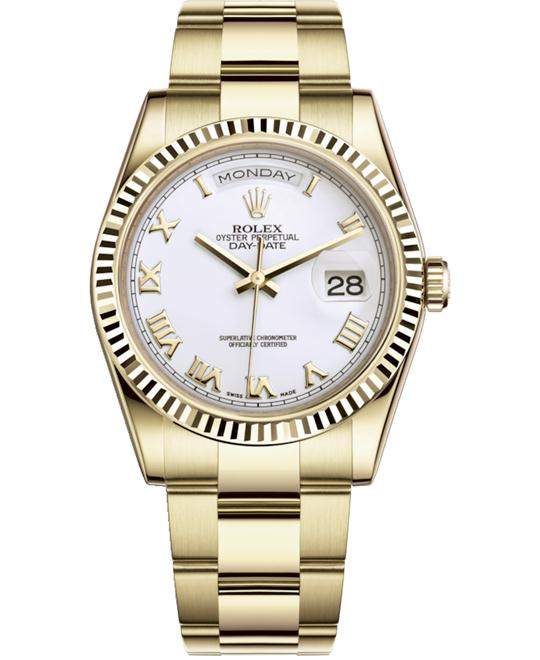 ROLEX OYSTER PERPETUAL118238-0162 WATCH 36