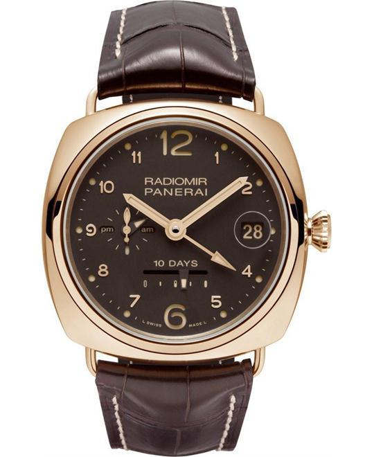 đồng hồ hai múi giờ Panerai 10 Days GMT Oro Rosso 18kt PAM00497 45mm